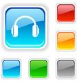 headphones button vector image vector image