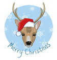 holiday symbol icon colorful cute reindeer in vector image vector image
