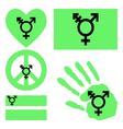 Israeli transgender and genderqueer pride design vector image vector image