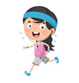 kid running vector image