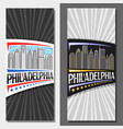 layouts for philadelphia vector image