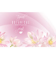lotus flower banner vector image