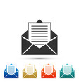 mail and e-mail icon envelope symbol e-mail vector image vector image