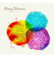Merry Christmas watercolor greeting card vector image vector image