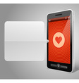 Mobile phone and heart icon vector | Price: 1 Credit (USD $1)