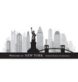 new york landmarks skyline and skyscraper in vector image