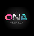 ona o n a three letter logo icon design vector image vector image