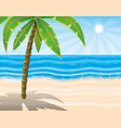 palm tree on the beach vector image vector image