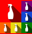 plastic bottle for cleaning set of icons vector image