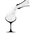 Pouring Champagne vector image vector image