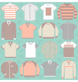 seamless pattern with clothing for men vector image vector image