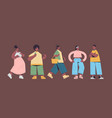 set cute people in casual trendy clothes african vector image vector image