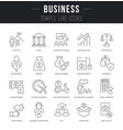 set linear icons business vector image vector image