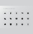 set of 15 editable zoo icons includes symbols vector image vector image