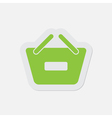 simple green icon - shopping basket minus vector image vector image