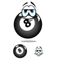 Smiling cartooned billiard ball vector image vector image