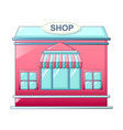 street shop icon cartoon style vector image vector image