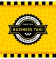 Taxi symbol with checkered background - 10 vector image vector image