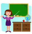 teacher in the classroom vector image vector image