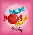 three candy with pink background vector image vector image