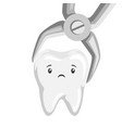tooth is removed forceps vector image vector image