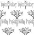 Tropical Holiday seamless pattern vector image vector image