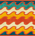 warm color wave seamless pattern vector image vector image