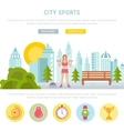 Web Banner Fitness or Bodybuilding vector image
