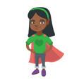 african brave girl wearing superhero costume vector image