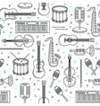 music pattern seamless design vector image
