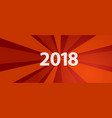 2018 new year resolution and target red revolution vector image vector image