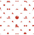 activity icons pattern seamless white background vector image vector image