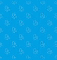 add users pattern seamless blue vector image