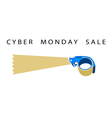 Adhesive Tape Dispenser With Word Cyber Monday vector image vector image