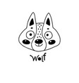 avatar cute face wolf cub portrait vector image