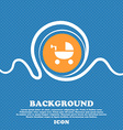 Baby Stroller icon sign Blue and white abstract vector image vector image