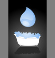 bathtub with water vector image