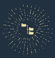 beige folder tree icon isolated on dark blue vector image vector image