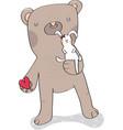 big bear with little bunny