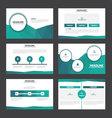 Blue Green annual report presentation templates vector image