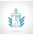 Blue line Xmas candle vector image vector image
