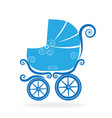 blue stroller icon vector image