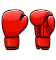 boxing gloves cartoon isolated vector image vector image