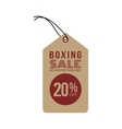 Boxing sale label vector image vector image