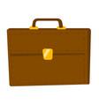brown briefcase cartoon vector image