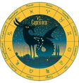 capricorn signs of the zodiac vector image vector image