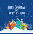 cartoon for holiday theme with house on winter vector image vector image