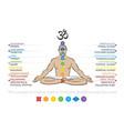chakras system human body vector image vector image