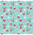 Christmas seamless pattern with deer vector image vector image