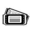 cinema tickets symbol vector image vector image